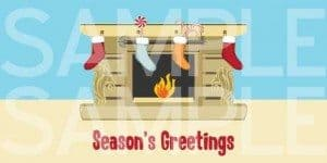 Season's Greetings Stocking Printable Xmas Card