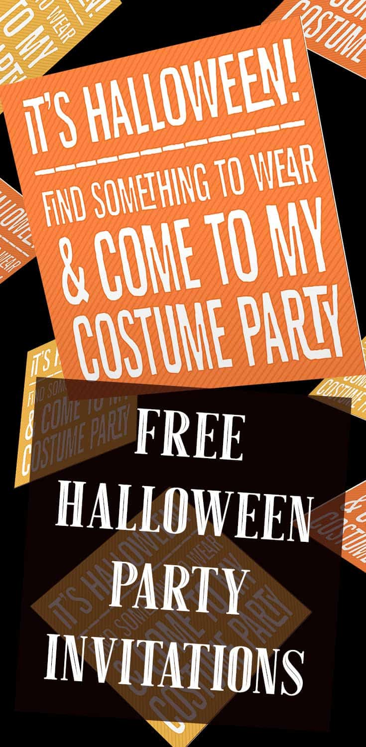 Striped Printable Costume Party Invitations   Free Printables Online