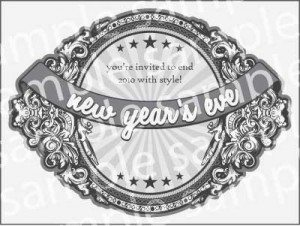 2010 New Year's Printed Party Invitations