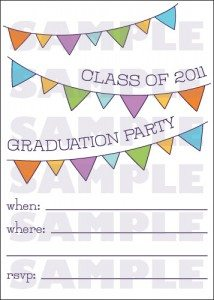 Party Banner Printable Graduation Postcards