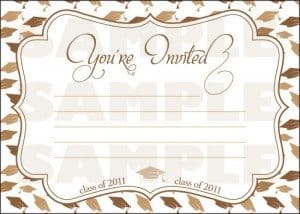 Mortar Board Graduation Party Invitations
