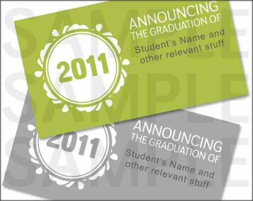 Lime Green 2011 Graduation Announcement