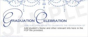 Classy Elegant Mardi-Ball Graduation Announcements