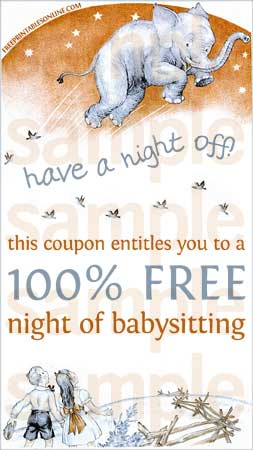 Have a night off babysitting voucher free printables online for Babysitting gift certificate template