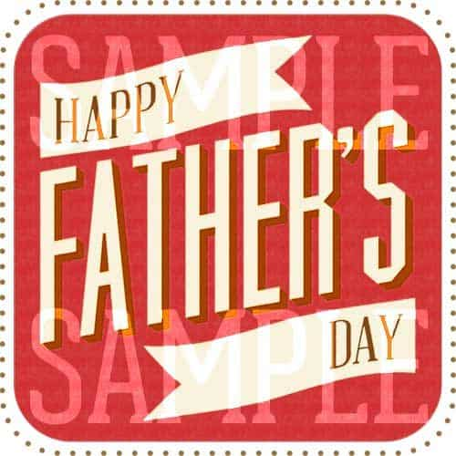 Red Letterpress Happy Father's Day Card
