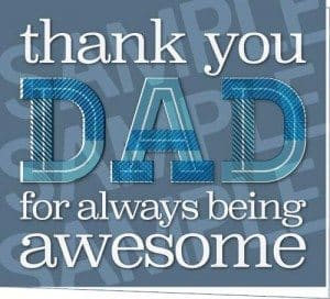 Thank You Dad Printable Father's Day Card