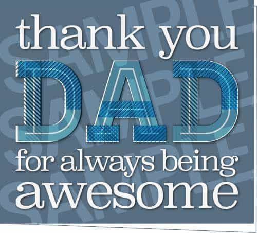 thank you dad printable father u0026 39 s day card