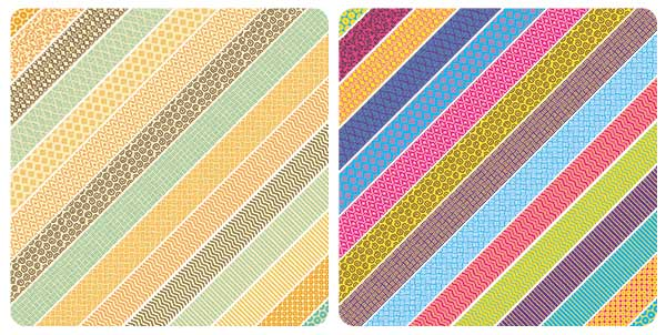 Tight Patterned Printable Washi Tape Stickers