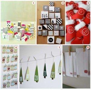 A few home made advent calendar ideas