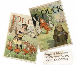Vintage Puck Magazine Cover Easter Note Cards
