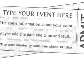 Free Printable Event Ticket Templates