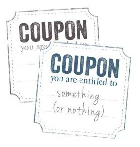Corner Cut Printable Blank Coupon