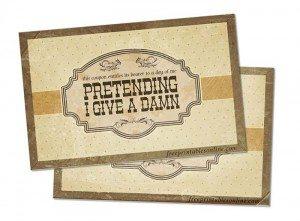 Don't Give A Damn Sarcastic Card
