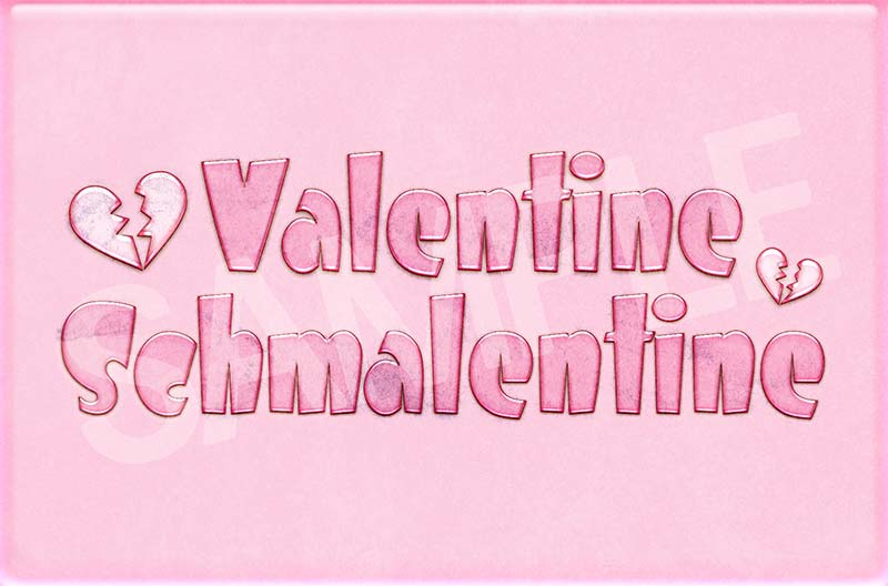 Valentine Schmalentine Anti Valentine's Day Card