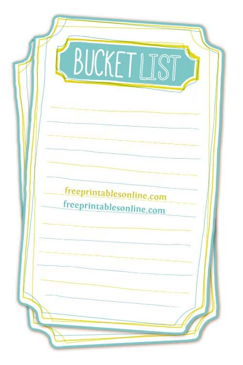 Make Your Own Bucket List Printable Freebie