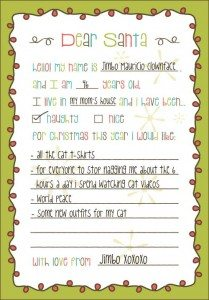 Dear Santa Printable Christmas Gift List