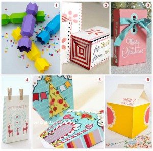 Roundup of Printable Christmas Boxes