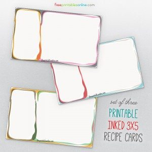 Colorful 3x5 Funky Recipe Cards