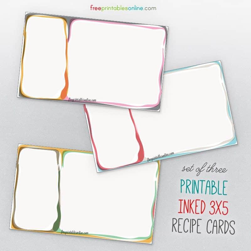 finally updated 3 5 recipe cards to download free printables online bloglovin. Black Bedroom Furniture Sets. Home Design Ideas