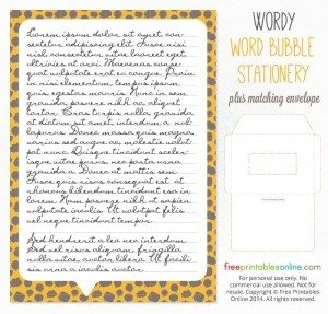 Wordy Printable Stationery Set (Paper + Envelope)