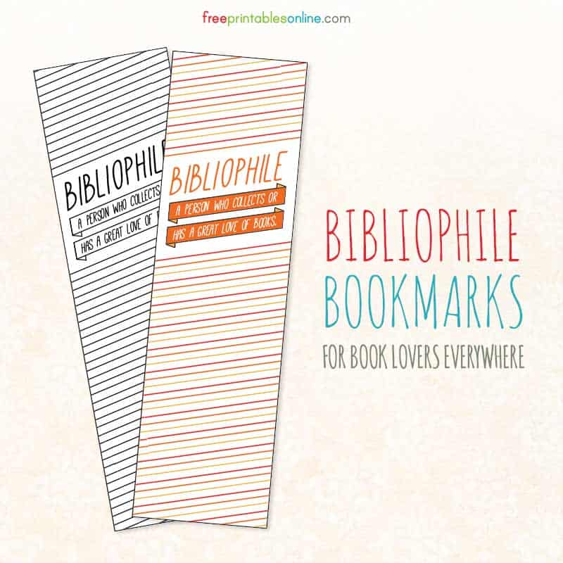 Bibliophile Stripe Bookmark Set