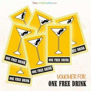Free Printable Drink Voucher