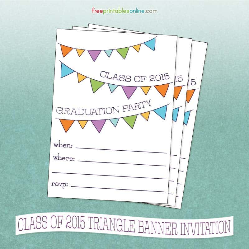 Class Of Graduation Party Invitation Free Printables Online - Party invitation template: graduation party invitation postcard templates free