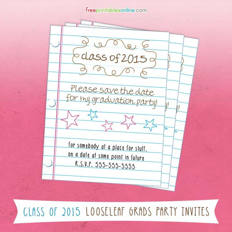 2015 Graduation Save the Date Cards