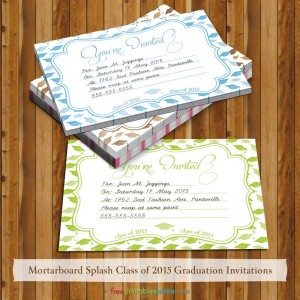 You're Invited Mortarboard 2015 Graduation Invites