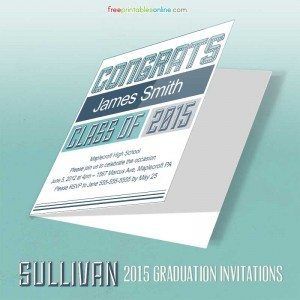 Sullivan Collegiate Free Printable Graduation Invitation 2015