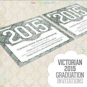 Victorian 2015 Graduation Invitation Template