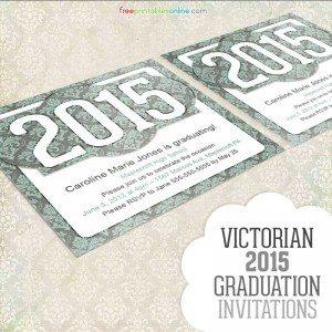 Victorian 2015 Graduation Invitation Template