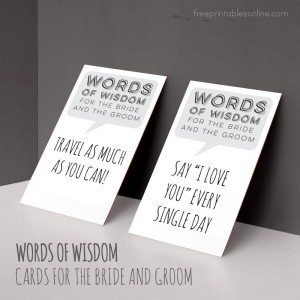 Words of Wisdom for the Bride and Groom