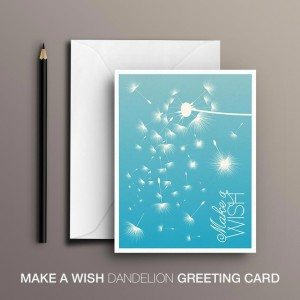 Dandelion Make a Wish Greeting Card