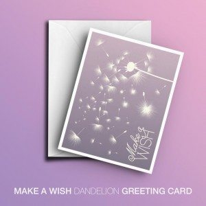 Printable Make a Wish Card (Purple)