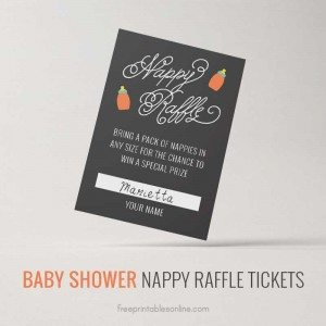 Cute and Free Nappy Raffle Tickets
