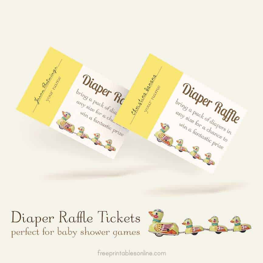 Diaper Raffle Tickets