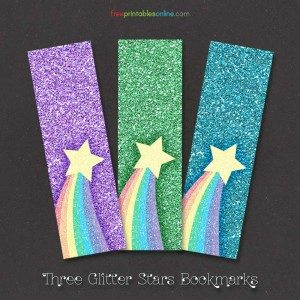 Rainbow Glitter Bookmarks