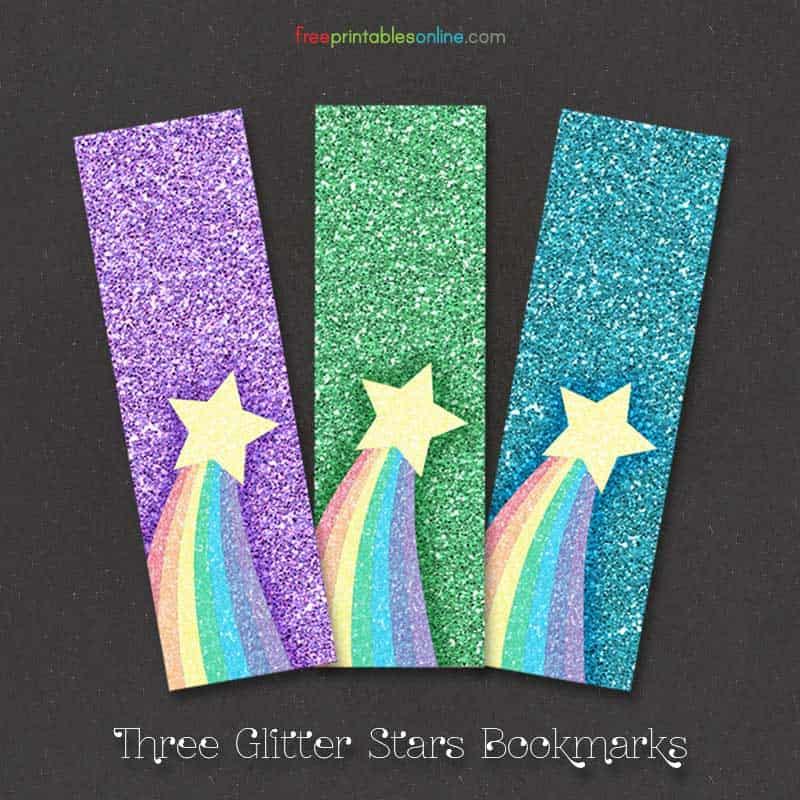 Rainbow Glitter Bookmarks