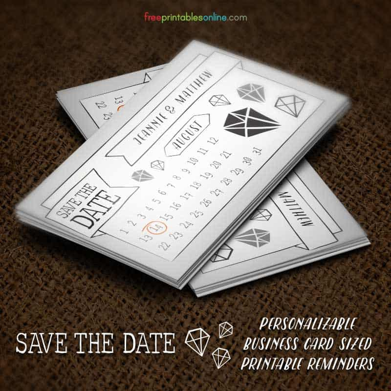 online save the date template free - free save the date business card template free