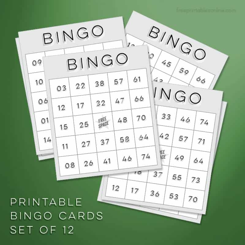 download free bingo cards