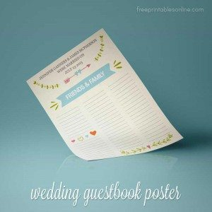 Printable Personalized Wedding Guestbook Poster