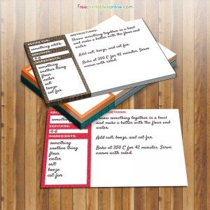 Square Polka Dot Free Printable Recipe Cards (4×6)