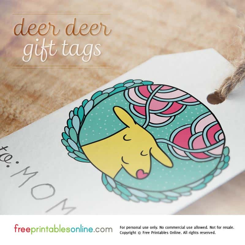 Dear Deer Printable Christmas Gift Tags