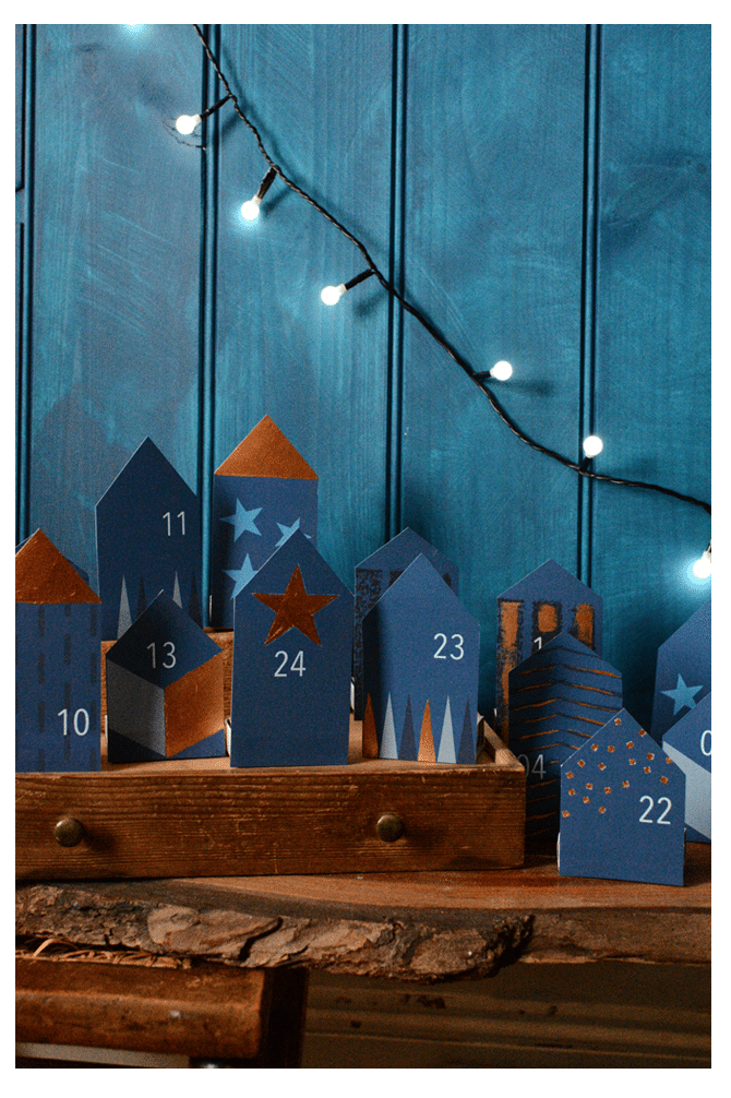 DIY Little Houses Advent Calendar