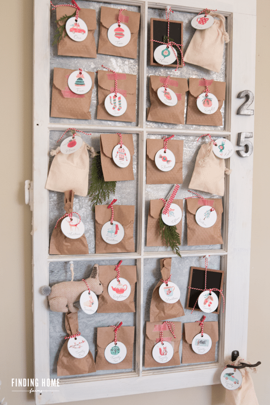 CHRISTMAS ADVENT TAG ORNAMENTS