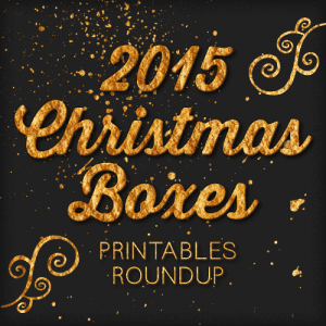 2015 Free Printable Christmas Boxes