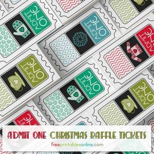 Free Christmas Raffle Tickets to Print