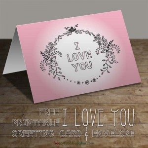 Floral Wreath I Love You Greeting Card