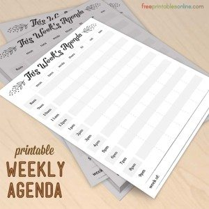 Modern Elements Printable Weekly Agenda